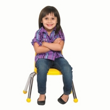 """Child-Sized Stack Chair with Ball Glides - 10""""H Seat, 51531"""