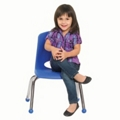 "Child-Sized Stack Chair with Ball Glides - 12""H Seat, 51532"