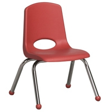 "Child-Sized Stack Chair with Ball Glides - 16""H Seat, 51534"