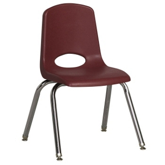 "Child-Sized Stack Chair with Swivel Glides - 14""H Seat, 51537"