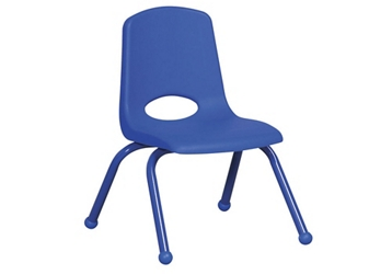 "Stack Chair with Matching Legs and Ball Glides 10""H Seat, 51621"