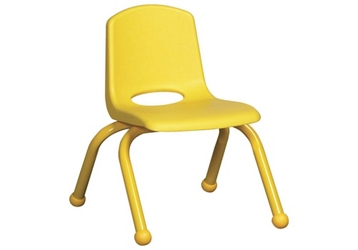 "Stack Chair with Matching Legs and Ball Glides 14""H Seat , 51623"