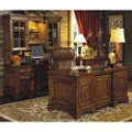 Executive Desk with Credenza and Hutch, 14268