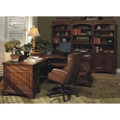 L-Desk with Bookcase Wall, 14267