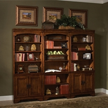 """Bookcase Wall with Four Doors - 79""""H, 32175"""