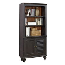 """Two Tone Five Shelf Bookcase with Lower Doors - 32""""W, 32293"""