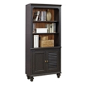"Two Tone Five Shelf Bookcase with Lower Doors - 32""W, 32293"