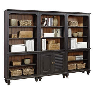 """Bookcase Wall with Two Doors - 79""""H, 32174"""