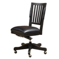 Armless Bonded Leather Office Chair , 55619