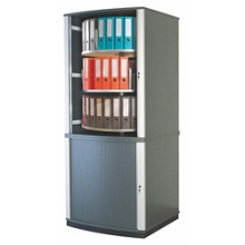 Locking Tambour Door Binder Carousel - 5 Tiers, 36678