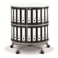 Fully Rotating Binder Carousel - 2 Tiers, 36656
