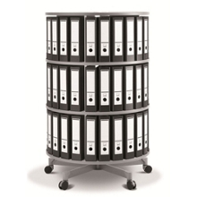 Fully Rotating Binder Carousel - 3 Tiers, 36657
