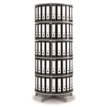 Fully Rotating Binder Carousel - 5 Tiers, 36659