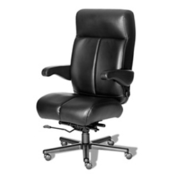 24/7 Big and Tall Chair with Flip Arms in Vinyl, 50913