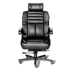24/7 Big and Tall Chair with Headrest and Leather Front with Vinyl Sides, 50918