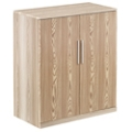 At Work Storage Cabinet with Wood Doors in Warm Ash, 31559