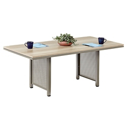At Work 8 ft x 3.5 ft Conference Table in Warm Ash, 40028