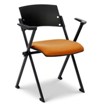 Fabric Seat Nesting and Stacking Chair with Arms, 51098