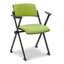 Fabric Nesting and Stacking Chair with Arms, 51099