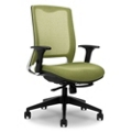 Knit Fabric Back Executive Ergonomic Chair with Seat Slider, 57018