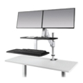 Height Adjustable Double Monitor Station, 82336