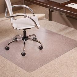 "Low Pile Chair Mat 46""W x 60""D for Carpet Floors, 54389"