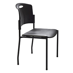 Armless Plastic Back Stacker with IC+ Seat Upholstery, 21239