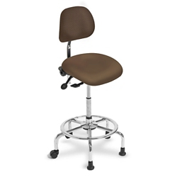 3 in 1 Sit-Stand Stool with IC+ Large Seat and Polyurethane Back, 21245