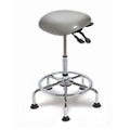 Large Seat IC+ Upholstered Sit-Stand Stool with Glides, 21248