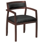 Upholstered Back Wood Guest Chair, CD00860
