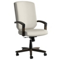 Wood Frame Fabric Executive Chair, 55608