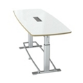 "Dry Erase Height Adjustable Conference Table 94""W x 36""D by Focal Upright, 45081"