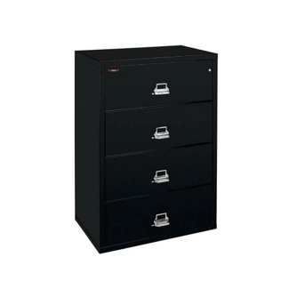 """Four Drawer Fireproof Lateral File - 38""""W, 30160"""