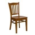 Armless Wood Chair with Slender Back, 55138