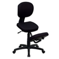 Kneel Chair with Backrest and Five Star Base, 56633