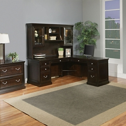 L-Desk with Hutch and Lateral File Set, 86276