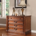 "Two Drawer Antique Finish Lateral File - 40""W, 30891"