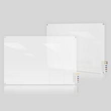 3' W x 2' H Radius Corner Frosted Glass Board, 80491