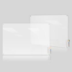 4' W x 3' H Radius Corner Frosted Glass Board, 80492