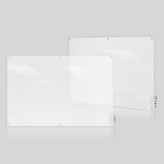 6' W x 4' H Radius Corner Frosted Glass Board, 80494
