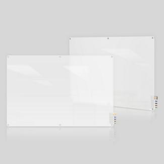 8' W x 4' H Radius Corner Frosted Glass Board, 80495