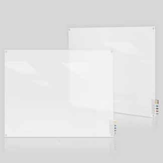 3' W x 4' H Square Corner Frosted Glass Board, 80502