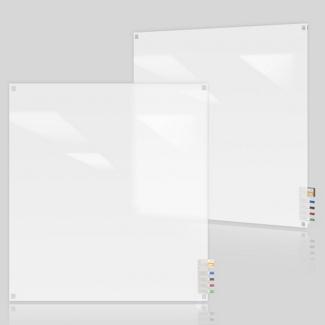 4' W x 4' H Square Corner Frosted Glass Board, 80503