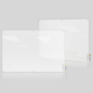 6' W x 4' H Square Corner Frosted Glass Board, 80504