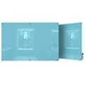6' W x 4' H Magnetic Square Corner Glass Board, 80544