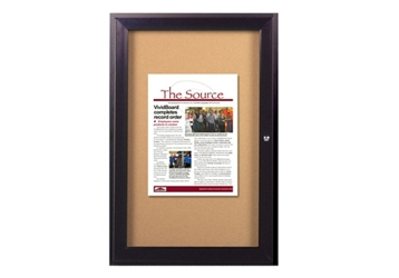 "Indoor Bronze Toned Bulletin Board 24""x36"", 80744"