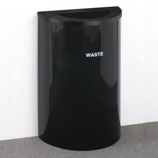 Half Round Painted Waste Bin, 85761