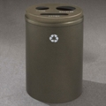 Round Painted Bottles, Cans and Paper Recycling Bin, 85769