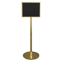 "Standing Directory with Gloss Brass Finish - 14"" x 11"", 87522"