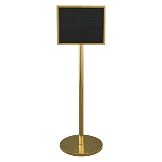 "Standing Directory with Mirror Brass Finish - 11"" x 14"", 87521"